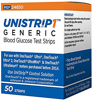UniStrip Test Strips for Use with Onetouch® Ultra® Meters