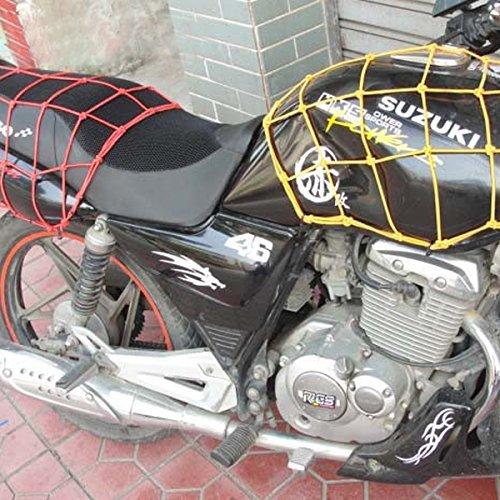 40 40 cm Bagages Cargo Net Bungee Bag 6 Crochets Moto Moto Casque Sac De Stockage De Stockage 2PCS Noir