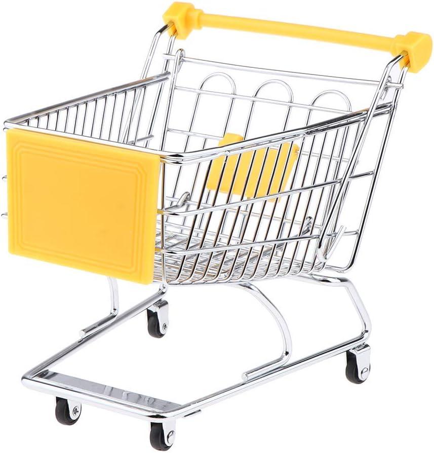 Mini Supermarket Hand Trolley Shopping Utility Cart Storage Basket Pretend Kids Toy Blue Vxkbiixxcs-o Mini Shopping Cart