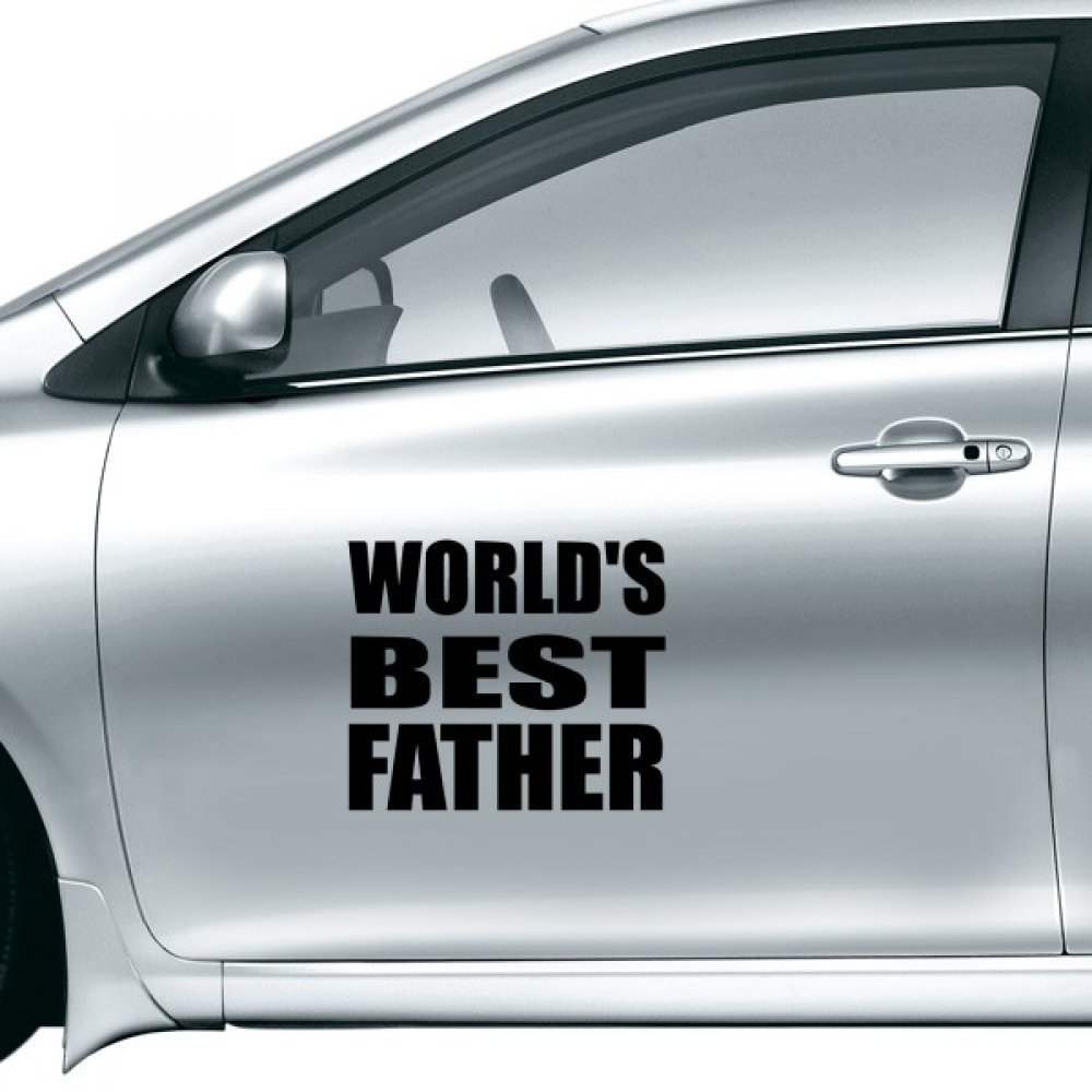 Amazon com worldâ€s best father festival quote car sticker on car styling decal motorcycle stickers for car accessories gift home kitchen