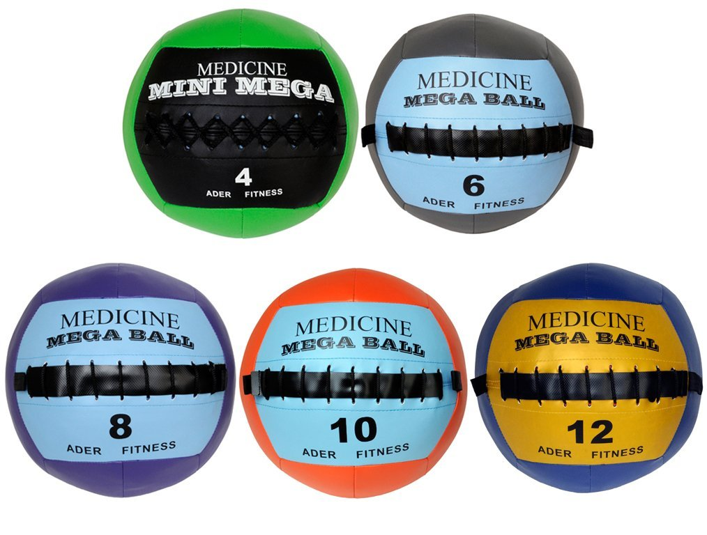 Ader Soft Mega Medicine Ball Set- 4, 6, 8, 10, 12 Lbs by Ader Sporting Goods