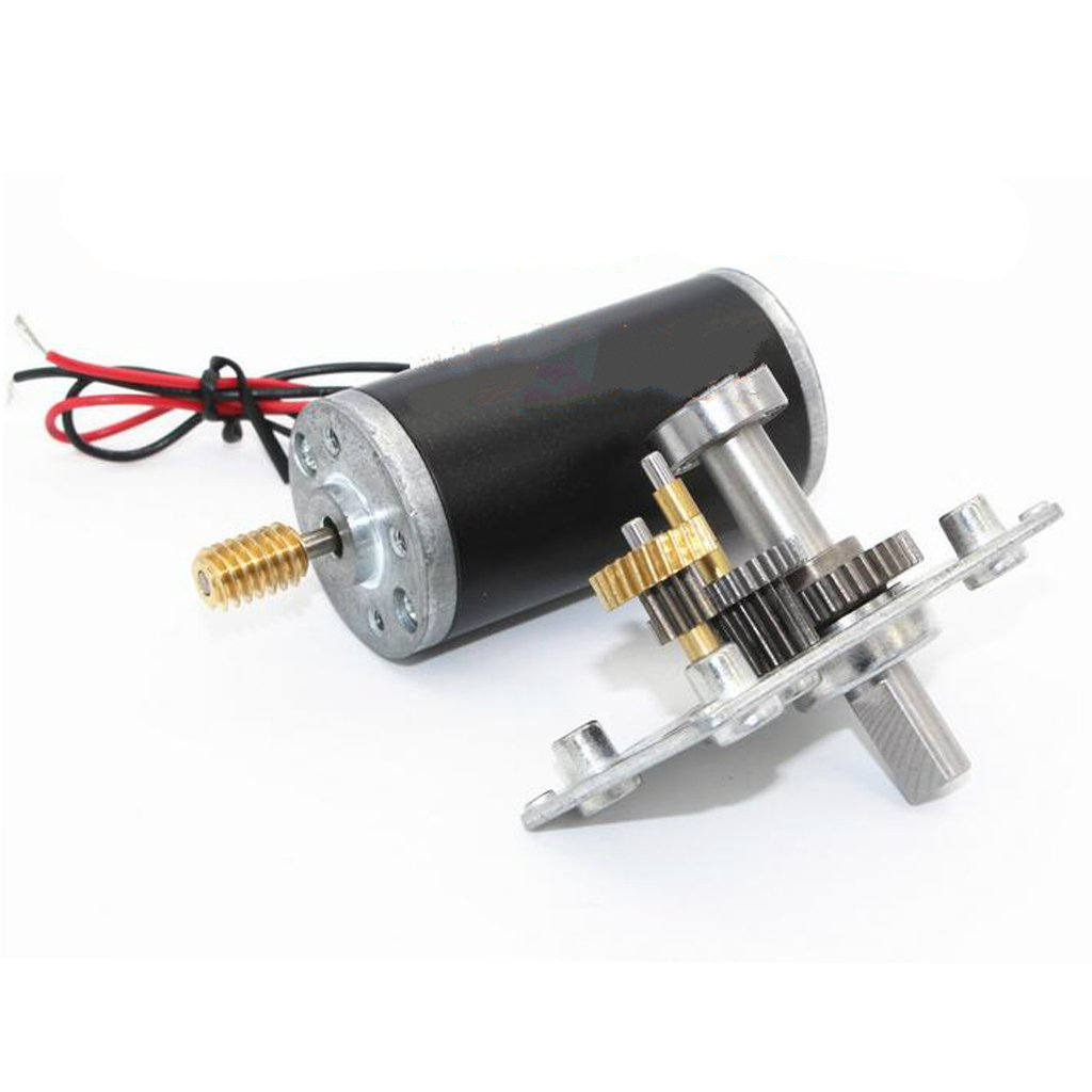 MagiDeal Micro DC hohe Drehmomente Turbo Schnecken Getriebe Motor Rechtwinklig Getriebemotor 24V 16RPM