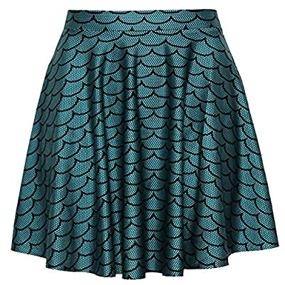 Happy Cool Women's Geometric Pattern Printed Digital Casual Flared Skater Bust Skirt