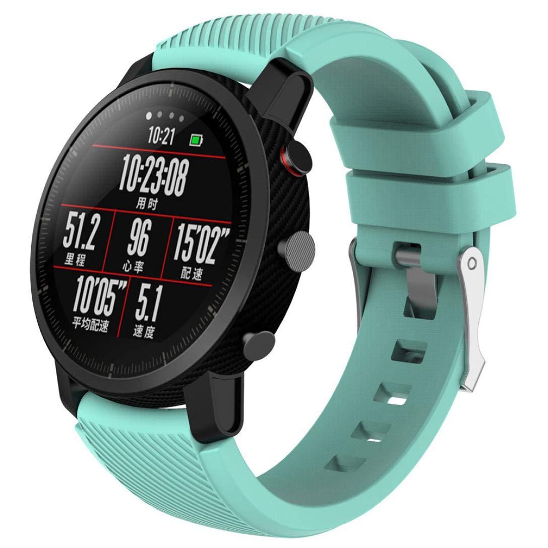 Modaworld _Correa de reloj Suave de Silicona Sports Band para HUAMI Amazfit Stratos Smart Watch 2 Correas de Reloj Inteligente Pulseras de Repuesto (Menta ...