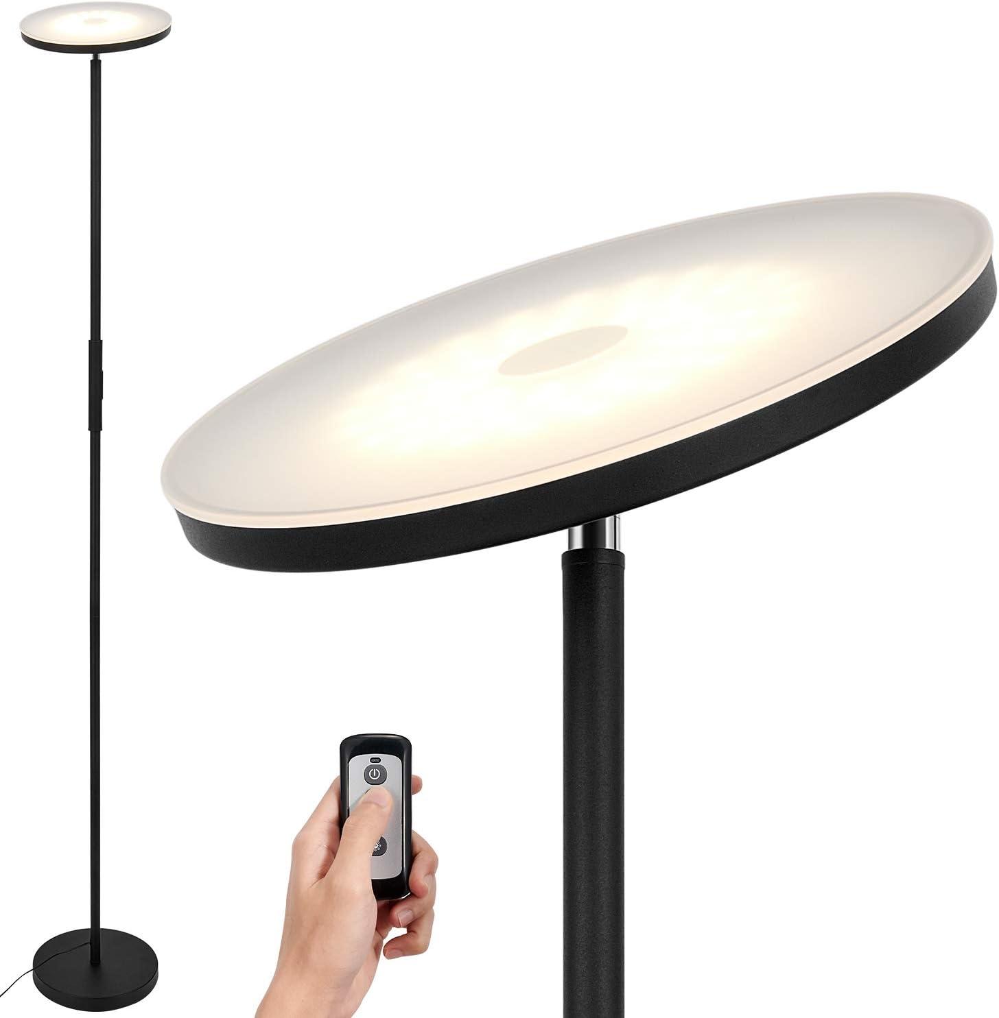Anten 20W Schwarze LED Stehlampe mit Fernbedienung - LED Deckenfluter