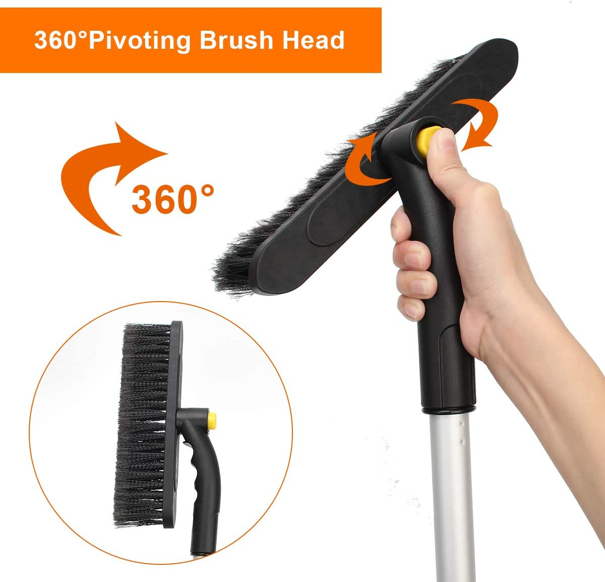 No Scratch Remover Tool with for Car Truck and SUV Van Foam Grip car Snow Scraper and Brush,2-in-1 car Snow Scraper and Brush Ahier car Snow Brush