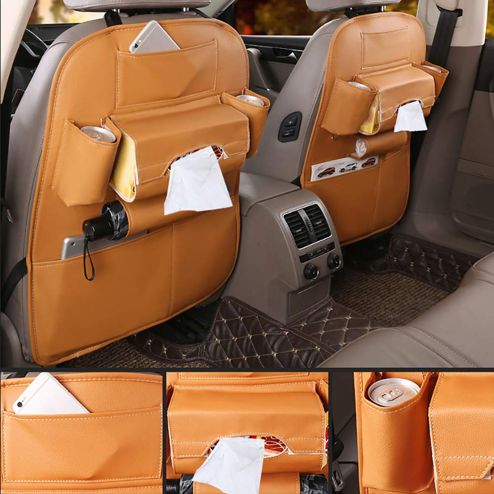 Brown LAPUTA Car Storage Bag Interior Storage Storage Container Universal Multifunction Car Seat Back Storage Hanging Bags Organizer Pocket