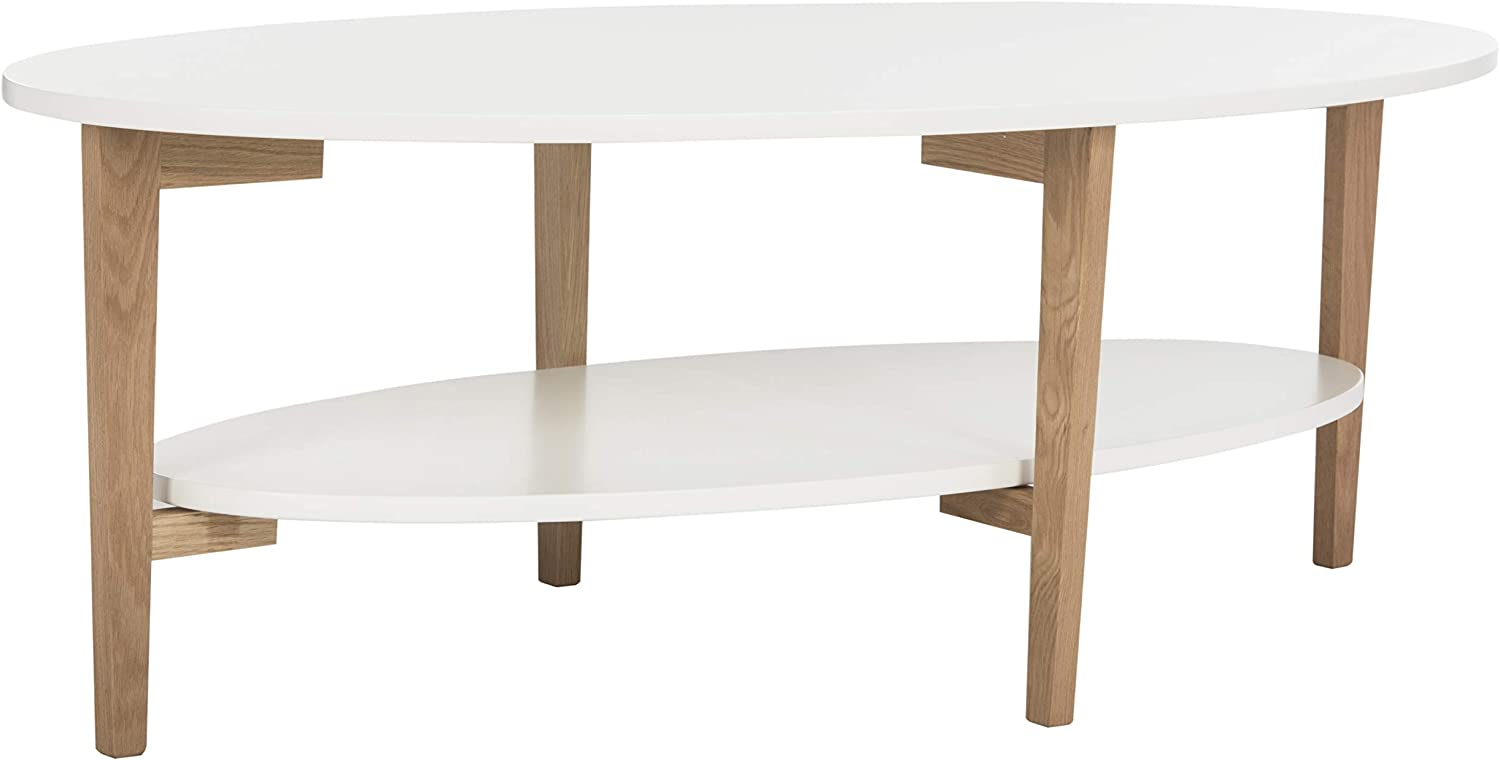 Safavieh Home Collection Woodruff White and Natural Coffee Table