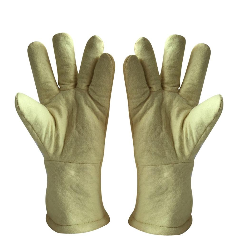 High temperature gloves 500 ? thermal insulation steel plant casting labor insurance products baking oven anti - hot safety protection by LIXIANG (Image #2)