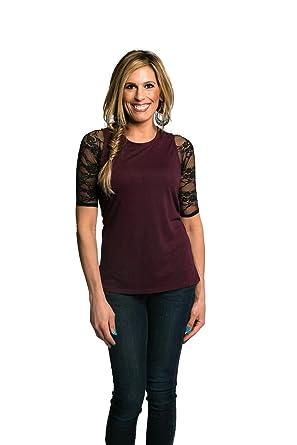 4c0081cf03ead7 Sleevey Wonders Women s Basic 1 2 Length Slip-on Lace Sleeves at ...