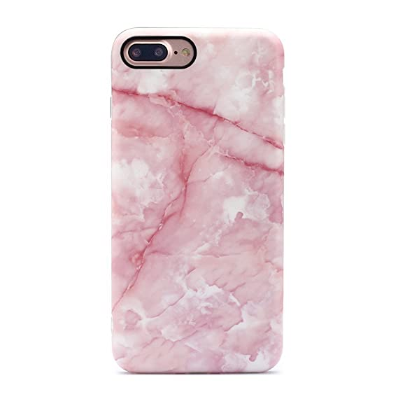 promo code 429a0 e1ad4 GOLINK iPhone 7 Plus Case/iPhone 8 Plus Marble Case, Matte Marble Series  Slim-Fit Anti-Scratch Shock Proof Anti-Finger Print Flexible TPU Gel Case  for ...