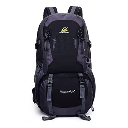 Pengwei outdoor large capacity sports mountain bag 40L waterproof double shoulder student package travel bag (