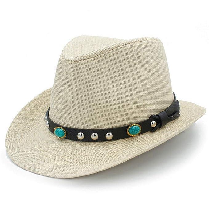August Jim Mens Western Cowboy Hats Summer Beach Fashion Sombrero Sun Cap  Unisex b13013f6315