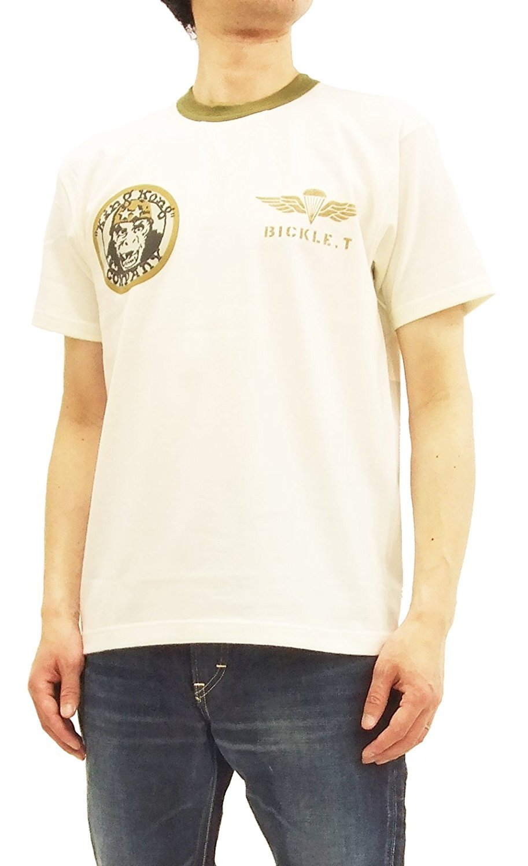 TOYS McCOY Men's Slim Fit Short Sleeve T-Shirt Taxi Driver Military Tee TMC1807 Off-White Japan XL (US L/UK 40)