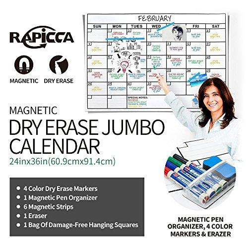 eptive Dry Erase Wall Calendar,Huge 24