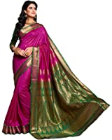 Craftsvilla Women's Silk Saree With Blouse Piece (Sania Jacd_Pink)