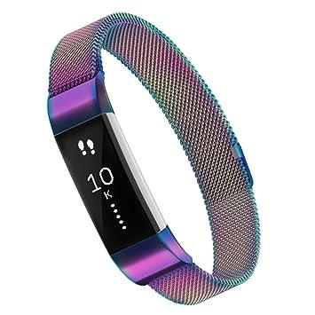 Simpeak para Fitbit Alta HR y Alta Bandas, Reemplazo Milanese Loop Pulsera de Acero Inoxidable para Fitbit Alta (HR) Fitness (5,5 – 8,5
