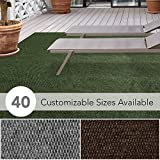 iCustomRug Affordable Indoor/Outdoor All Purpose Utility Loop Pile Carpet with Marine Backing, Multi Use Carpet for Patio, Porch, Deck, Boat, Basement, Garage or Trade Show