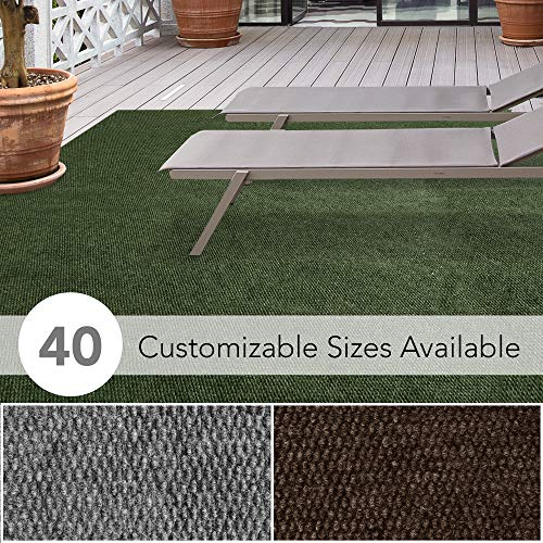 iCustomRug Affordable Indoor/Outdoor All Purpose Utility Loop Pile Carpet with