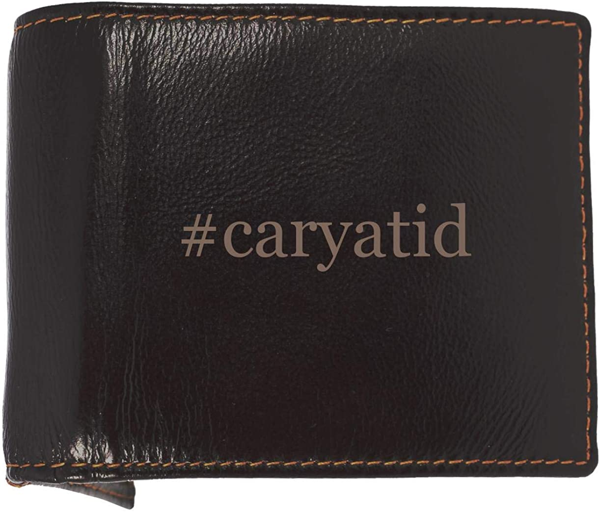 #caryatid - Soft Hashtag Cowhide Genuine Engraved Bifold Leather Wallet 61tQzcoZnbL
