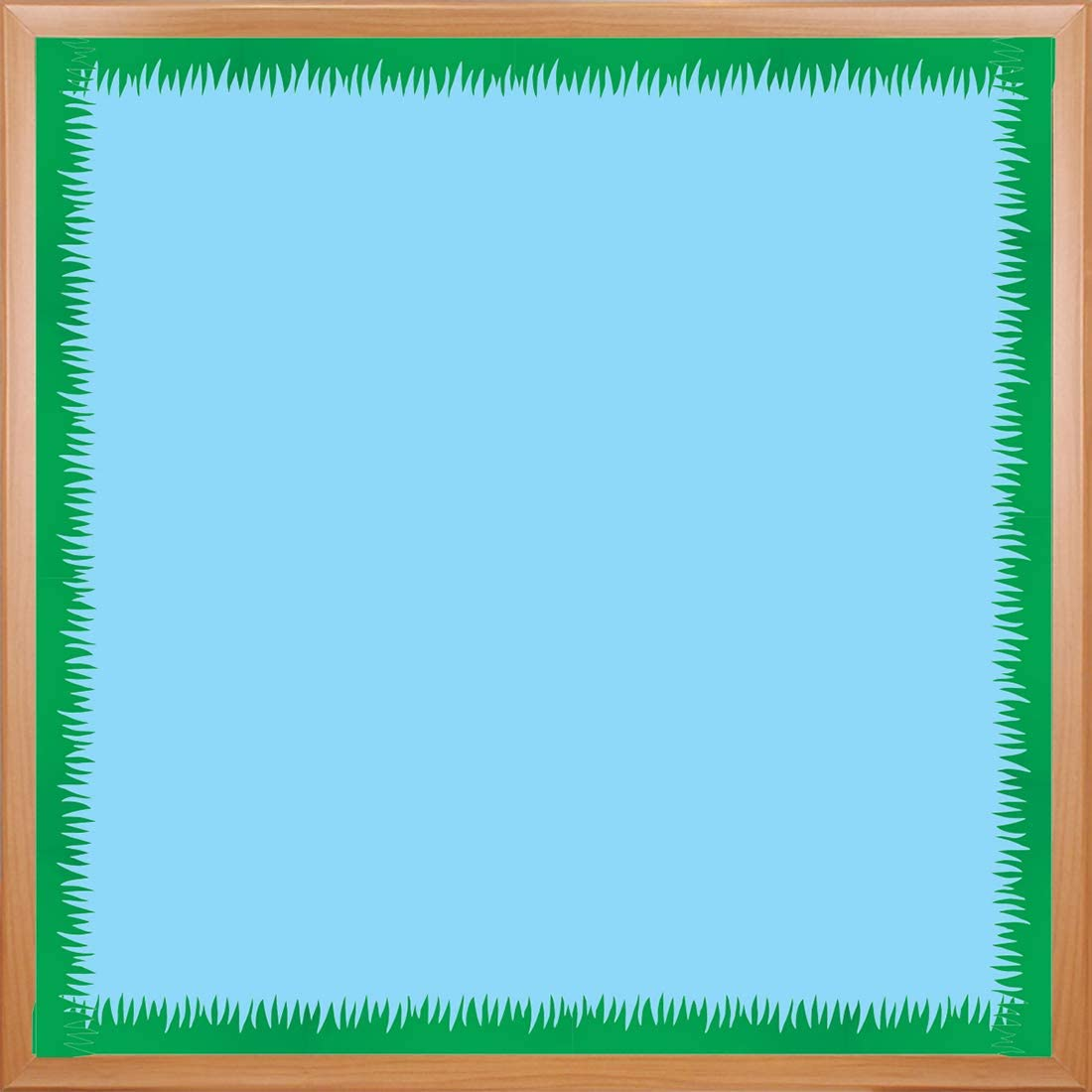 Hygloss Products, Inc Die-Cut Bulletin Board Border Green Grass Design - Classroom Decoration – Easter, Spring or Summer Crafts - 3 x 36 Inches, 24 Pack