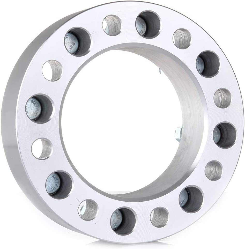 OCPTY Replacement Parts Compatible with 4X 2 8x6.5 to 8x6.5 or 8x165.1mm to 8x165.1mm Wheel Spacers 14x1.5 Studs 126.15mm for GMC Sierra 1500 HD 2500 HD 3500 HD