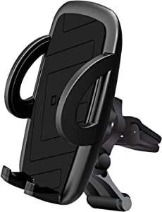 Cellet Universal Smartphone Car Air Vent Mount Holder Cradle Compatible for iPhone 11/Pro 11 Pro Max XS XS Max X 8 8 Plus 7 7 Plus SE 6s 6 Plus 6 Samsung Galaxy Note 10 10+ 9 8 S10 S10e S10+ S9 S8 S7