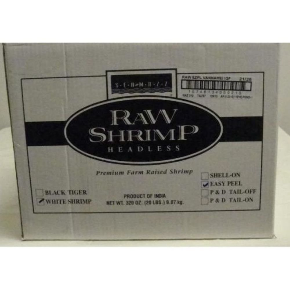 Seamazz Easy Peel White Shrimp, 21/25 Count -- 10 per case. by The Mazzetta Company