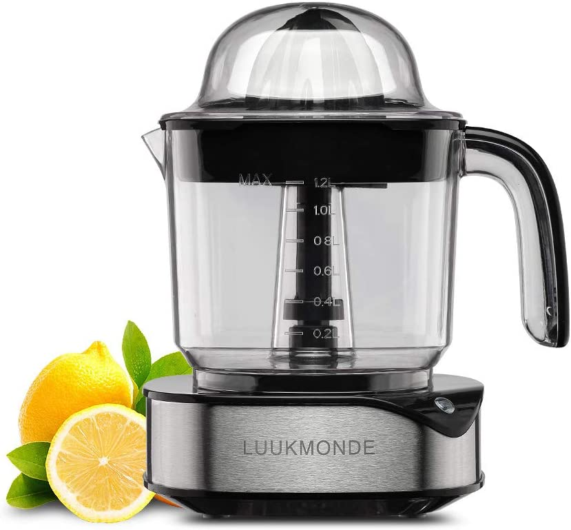 Electric Citrus Juicer 1.2L Large Volume - Orange Squeezer with Powerful Motor and LED Working Lamp - Electric Juicer Extractor for Orange Lemon Lime Grapefruit by LUUKMONDE