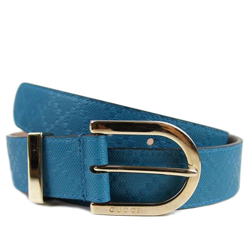 89b9fbbdc77 Amazon.com  Gucci Women s Diamante Leather Belt 354382 Bright Turquoise  Blue (40)  Clothing