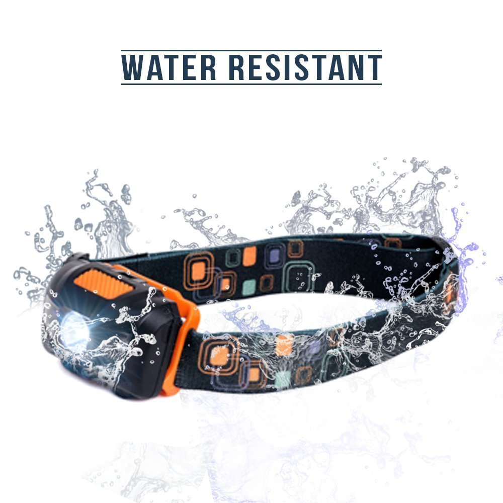 Brightest and Best Headlamp LED,Bright 300 Lumen White Cree Led,4 Modes Headlight Battery Powered Helmet Light for Camping Running Hiking and Reading Waterproof Hard Hat Light Bright Head Lights,
