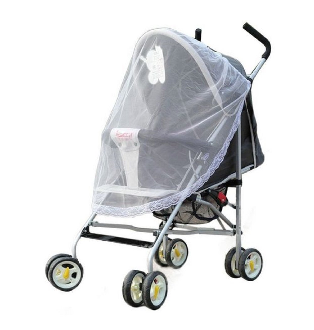 Stroller mosquito net anti-insect net cute with lace
