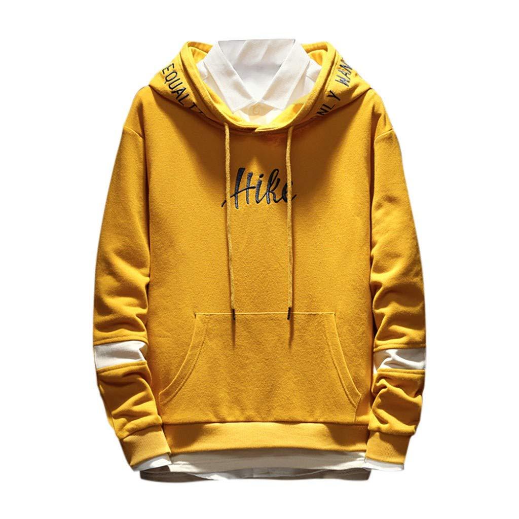 Men's Hip Hop Sweatshirts | Men Stylish Letter Print Crew Neck Loose Fit Workout Hoodie Tops | Autumn Winter Hooded Blouse