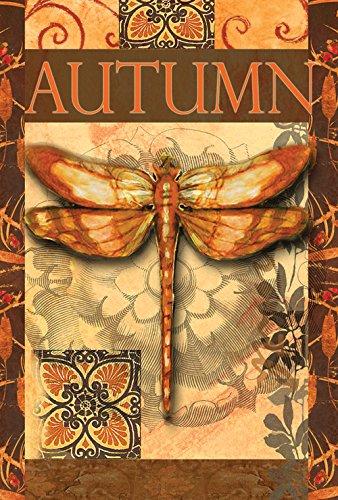 - Toland Home Garden Autumn Glow 28 x 40 Inch Decorative Dragonfly Cattail House Flag
