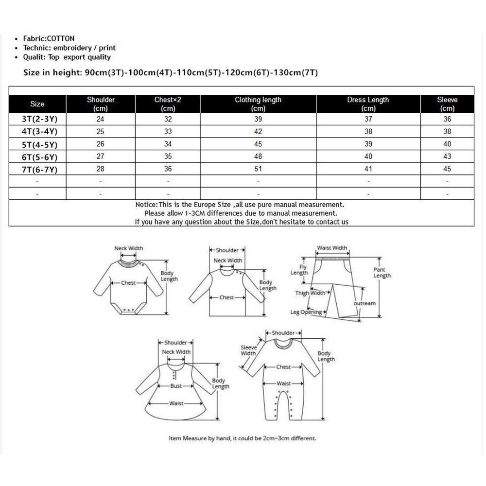 JUXINSU Girls Cotton Long Sleeve T-Shirt Denim Skirt Set for Winter and Autumn 2-7 Years TL612 (Navy, 4T) by JUXINSU (Image #7)