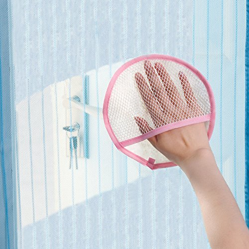 Practical Round Shape Window Screen Dedusting Glove Curtain Cleaning Rag Absorbent Cloth Household Wipes Creative Style