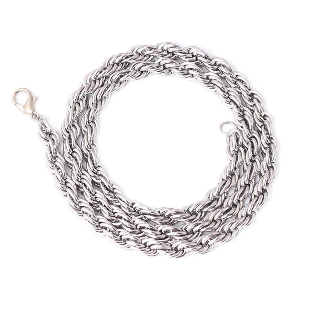 Himpokejg Men's Fashion Stainless Steel Chain Necklace Jewelry Party Club Banquet Gift 26Inch 6mm