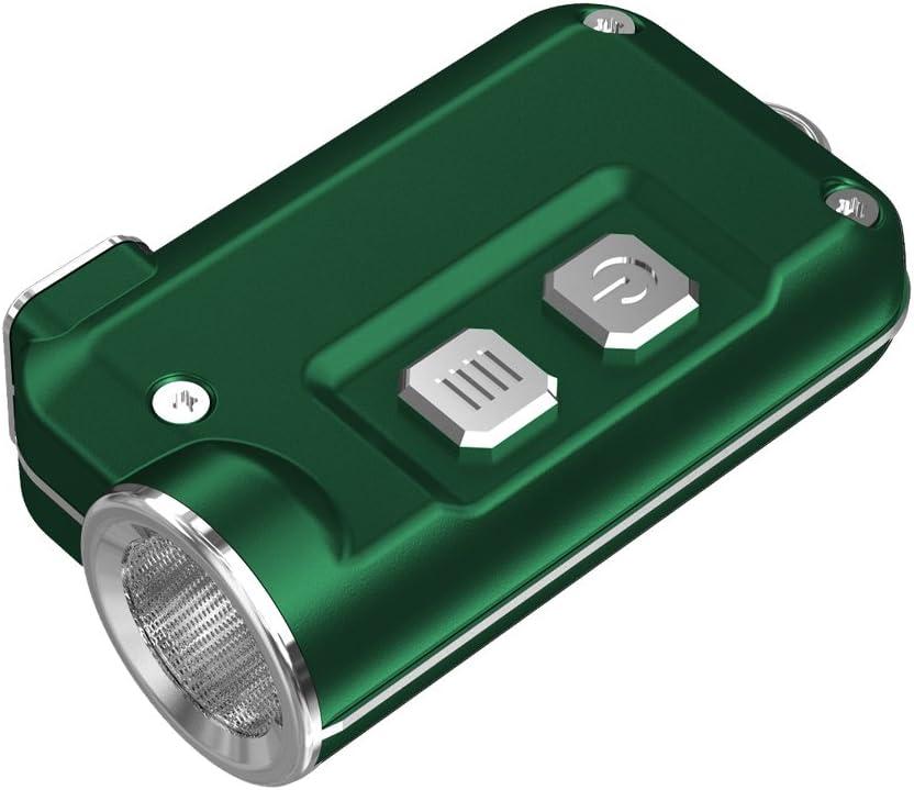 Llavero HANDIPRO Linterna Azul de luz LED Recargable por USB Super peque/ño NITECORE TINI 380 LM