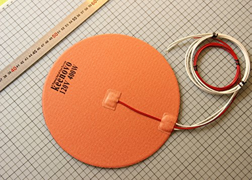 KEENOVO Circular/Round Silicone Heater Pad,Dia 10