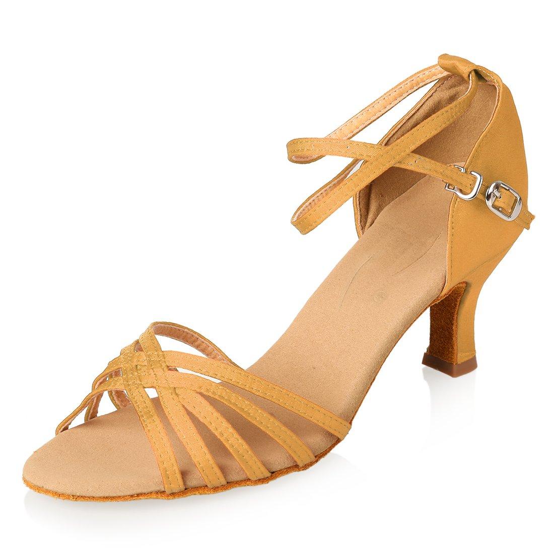 APTRO Damen Schuhe Tanzschuhe Ballsaal Latin Tanzen Silber Sandalen  38 EU|Gleb