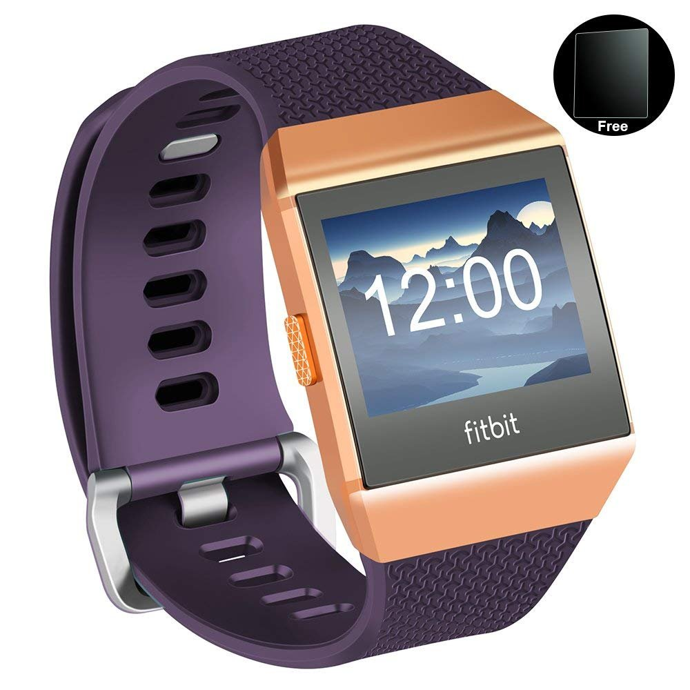 greatgo Fitbit ionic Smartwatch Bands Athletic Watch Bands Soft Adjustable Strap For Fitbit ionic Women Men Large Small