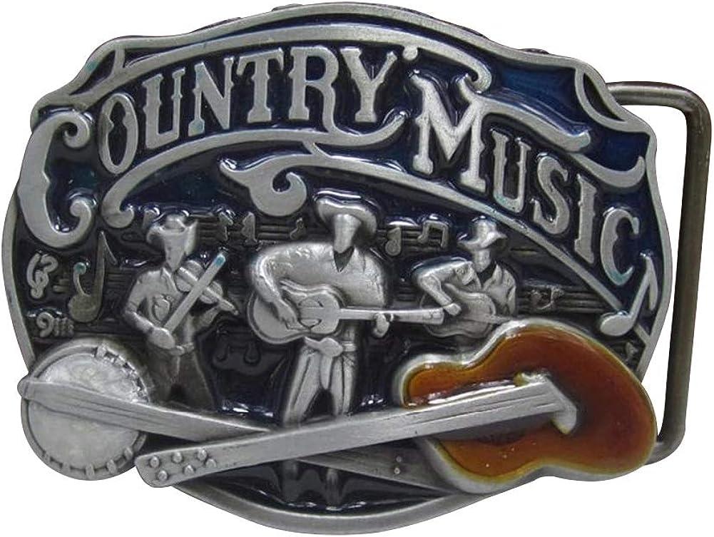 Unbekannt G/ürtelschnalle Country Musik Cowboy Gitarre Banjo.