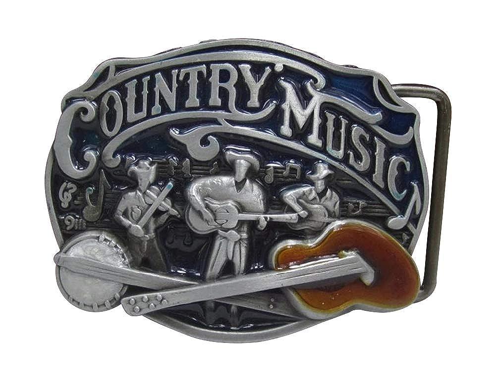 G/én/érique Fibbia da cintura country music cowboy chitarra banjo.