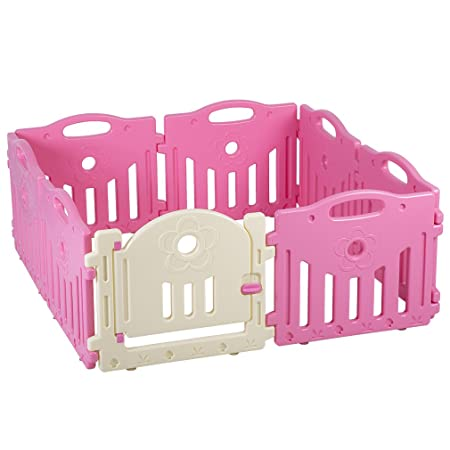 8 Panel Baby Playpen Kids Safety Play Center Yard Home Indoor Outdoor Pen