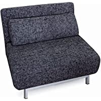 New Spec Convertible Chair to Sofabed, Grey and Black
