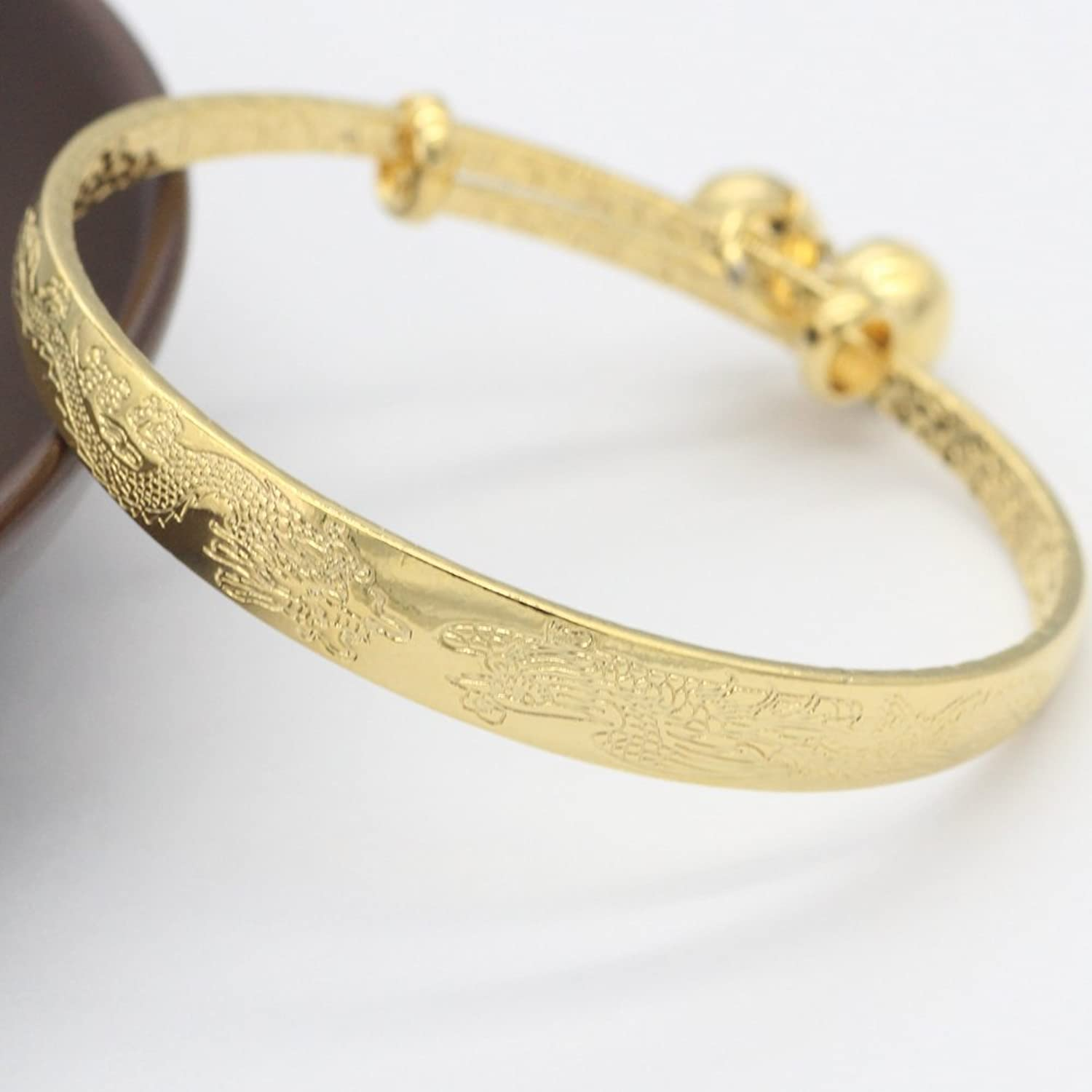 bangles baby bracelet itm plated heart bangle girls gold bell kids jewelry infant boys children