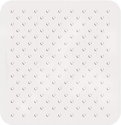 Tatkraft Fine Gummi Rutschfeste Quadratische Duschmatte Mit Saugnäpfen Anti Pilz Gummi Badematte Duscheinlage Quadratisch Mit 145 Saugnäpfe Maße 55x55 Cm Küche Haushalt