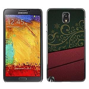 Caucho caso de Shell duro de la cubierta de accesorios de protección BY RAYDREAMMM - Samsung Galaxy Note 3 N9000 N9002 N9005 - Design Interior Purple Green Pattern Art