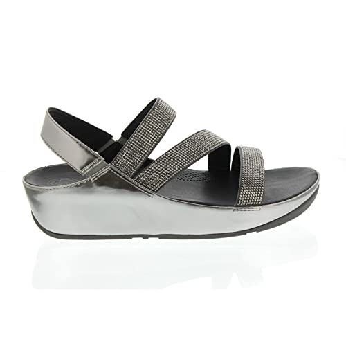 Discount Sale Buy 7XSW77SQ Women Fitflop Electra Silver Sequins Fitness Slipper In the UK online