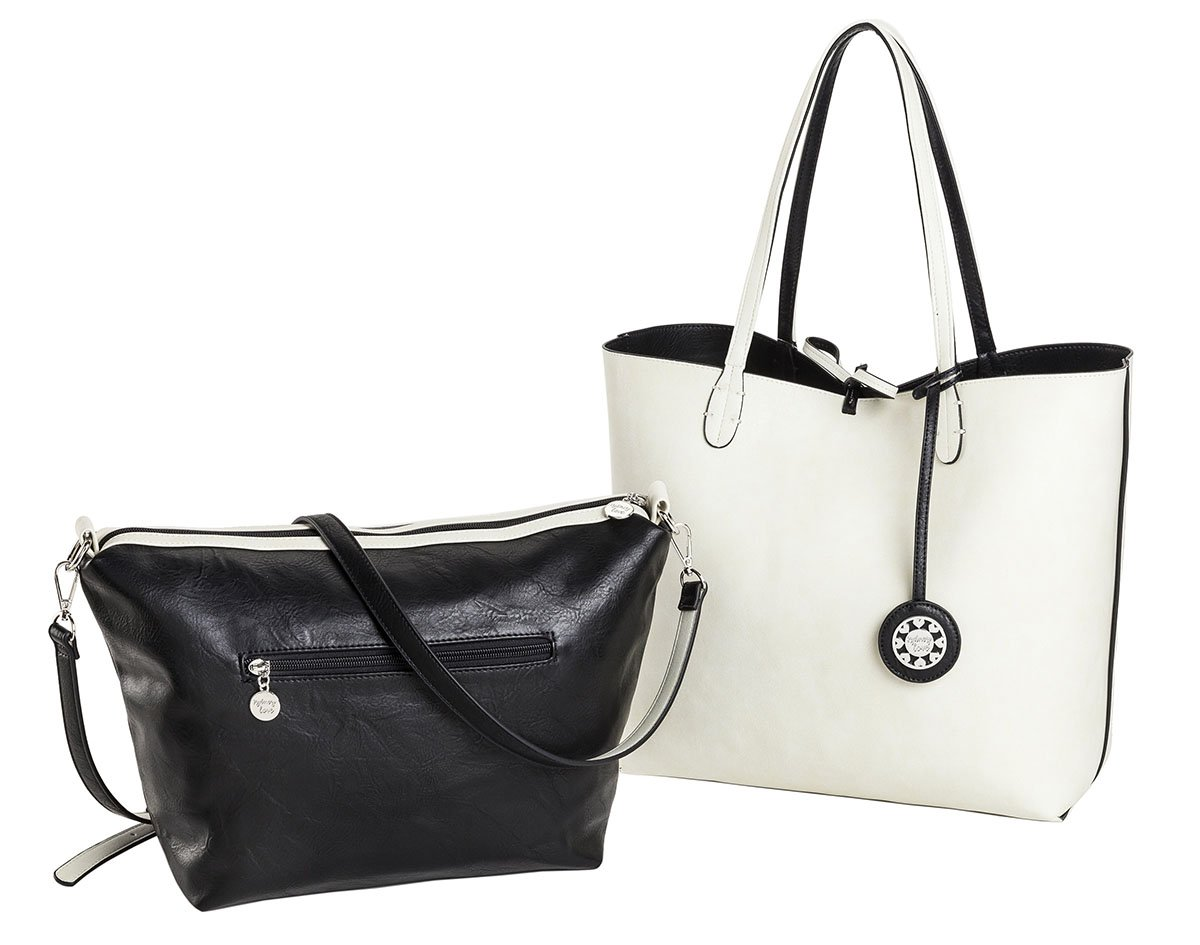 Sydney Love Reversible Tote with Inner Cross Body pouch
